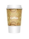 咖啡饭菜外卖点 免版税库存照片