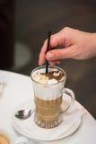 咖啡饮料查出的白色 免版税库存图片