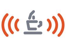 咖啡馆互联网符号 免版税库存图片