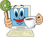 咖啡馆互联网 库存例证