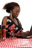 咖啡馆互联网 图库摄影
