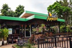 咖啡馆亚马逊咖啡店在泰国 库存图片