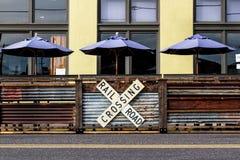 咖啡馆伞2 库存照片