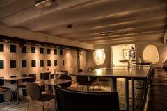 咖啡馆内部在奥斯陆 免版税库存照片