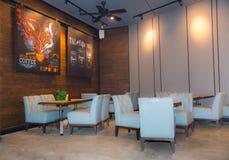 咖啡馆内部现代 库存照片