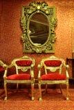 咖啡馆古典晚上 免版税库存图片
