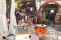 咖啡馆和存储, Anacapri,意大利 免版税库存照片
