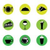 咖啡馆和餐馆象 免版税图库摄影