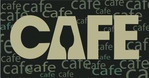 咖啡馆咖啡构思设计房子菜单 免版税库存图片