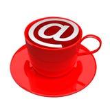 咖啡馆图标互联网 免版税库存照片
