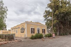 咖啡馆在一个历史的房子里在沃斯伯格 库存图片