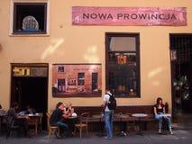 咖啡馆在克拉科夫 免版税库存照片