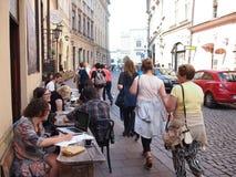 咖啡馆在克拉科夫 免版税图库摄影