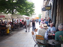 咖啡馆在克拉科夫 库存图片