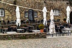 咖啡馆在冬天 免版税图库摄影