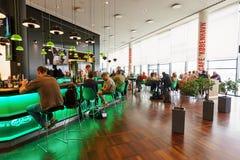 咖啡馆在哥本哈根凯斯楚普机场 免版税图库摄影