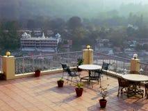 咖啡馆在喜马拉雅山 库存图片