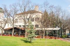 咖啡馆在索非亚,保加利亚的中心 免版税库存图片
