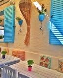咖啡馆在Alaçatı 免版税库存图片