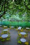 咖啡馆在Fontaine de横谷 库存图片