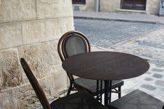 咖啡馆在Lvov 库存照片