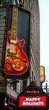 咖啡馆坚苦曼哈顿岩石正方形时期 免版税图库摄影