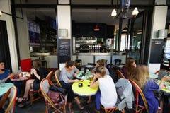 咖啡馆外部 免版税库存图片