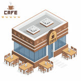 咖啡馆大厦 皇族释放例证