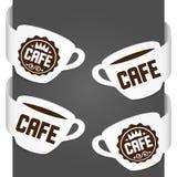 咖啡馆左右副符号 免版税库存照片