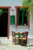 咖啡馆希腊海岛 库存图片