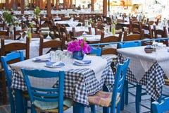 咖啡馆希腊 免版税库存图片