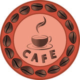 咖啡馆广告 图库摄影