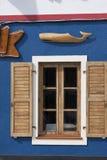 咖啡馆彼得s视窗 免版税库存照片