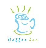 咖啡馆标志/商标 皇族释放例证