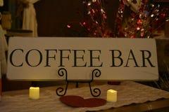 咖啡馆标志 免版税库存照片