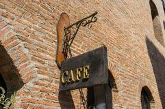 咖啡馆标志 库存照片