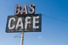 咖啡馆气体 库存照片