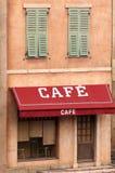 咖啡馆法语 免版税库存图片