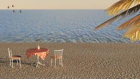 咖啡馆海边 免版税库存图片