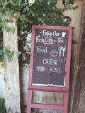 咖啡馆牌 免版税库存图片