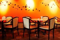 咖啡馆现代晚上 库存图片
