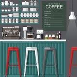 咖啡馆现代样式 库存图片