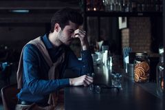 咖啡馆的人 免版税图库摄影