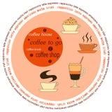 咖啡馆的咖啡标签 免版税库存照片