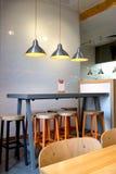 咖啡馆的室内装璜 免版税图库摄影