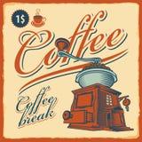 咖啡馆磨咖啡器 免版税图库摄影