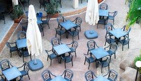 咖啡馆空的视图 图库摄影