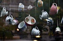 咖啡馆窗口 免版税库存图片