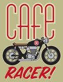 咖啡馆竟赛者摩托车设计 库存照片