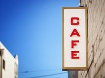 咖啡馆符号葡萄酒 库存图片